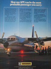 11/1982 PUB TURBOMACH SAN DIEGO TITAN II GEMINI APU SYSTEM AIRCRAFT ORIGINAL AD