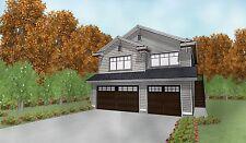 Triple Car / 3 Car Garage Plan / Blueprints With Livable Space Above - 32 x 40