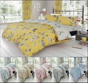 Luxuries BIRDIE BLOSSOM Flower Duvet Quilt Cover+PillowCase Bedding Set All Size