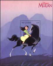 Gambia 1998 Disney/Mulan/Films/Cinema/Cartoons/Animation/Horse 1v m/s (b6724v)