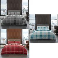 Luxury Bardsley Check Duvet Cover Set 3PCs Duvet/Quilt Cover Set Bedding Bed Set
