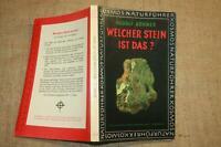 Sammlerbuch Bestimmung Mineralien, Edelsteine, Gesteine, Geologie,Stuttgart 1963