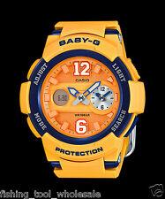 BGA-210-4B Yellow Casio Baby-g Lady Watches Resin G-Lide Women Band New