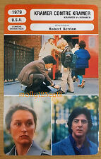 US Drama Kramer vs Kramer Meryl Streep Dustin Hoffman French Film Trade Card