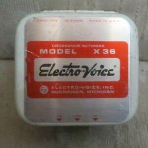 Pair Vintage Electro Voice EV X36 CROSSOVER 16 Ohms For T35 Tweeter T25 Speaker