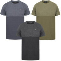 Dissident Kiku Crew Neck T-Shirt Grindle Marl Plain Basic Top Stripe Size S-XXL