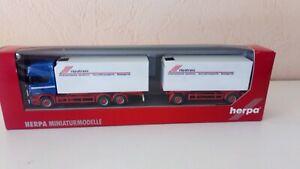 1/87 herpa riwatrans Scania topline frigo boite et accessoires fournis