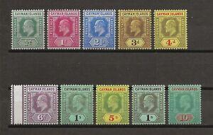CAYMAN ISLANDS 1907 SG 25/34 MINT Cat £350