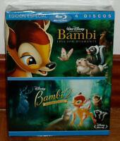 BAMBI +BAMBI 2 EDICION ESPECIAL 2 BLU-RAY+2 DVD NUEVO PRECINTADO (SIN ABRIR) R2