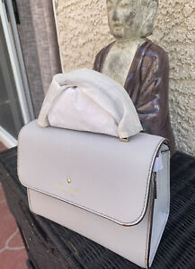 NEW Kate Spade Cedar Street Mini Nora Satchel Handbag Stone Ice Saffiano Leather
