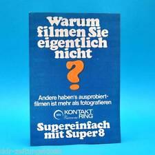 Aurora Super Schmalfilmkamera DDR 1971   Prospekt Werbung Werbeblatt Kontaktring