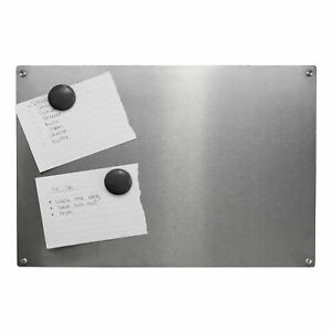 Magnetic Notice Board A3 Steel Memo Board 4 Included Magnets & Nails M&W