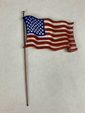 Bovano of Cheshire American Flag Metal Wall Art Enamel Hard To Find HTF RARE