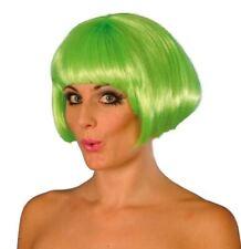 Peluca Corta Verde Flecos Flequillos señoras gallina Fiesta Vestido Elaborado Juegos con disfraces Babe
