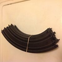 "LOT OF 12 TYCO MATTEL CURVES HO 9"" R 1/4 CIRCLE # B5831 SLOT CAR TRACK"