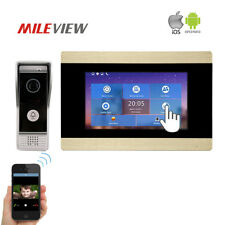 """WIFI 720P HD TCP/IP SIP 7"""" Recording Video Intercom Door Phone for Android IOS"""