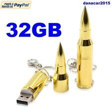 PEN DRIVE PENDRIVE DE UNA BALA DORADA 32GB 32 GB MEMORIA USB (4 8 16 64 PLATA)