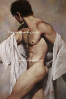 """24x36"""" Art prints canvas transfer male nude from oil painting Multi-Piece listed"""