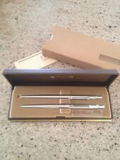 New Mint NOS Boxed Parker Classic Stainless Steel Ballpoint Pen & Pencil Set