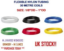 "Imperial Nylon Tube 30m Flexible Nylon Tube Hose Pneumatic Air Line 1/8"" - 1""OD"