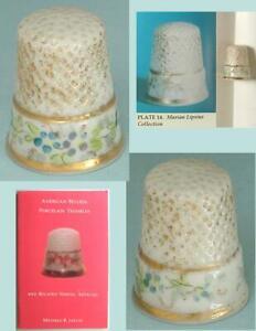 Rare Antique American Belleek Porcelain Thimble * Hand Painted * Circa 1890s