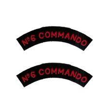 MARINE BRITANNIQUE N°6 COMMANDO Insignes d'épaule - WW2 REPRO BRAS PATCH