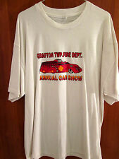 GRAFTON TWP antique Fire Dept truck Chevrolet large T shirt Lorain OHIO 1940s