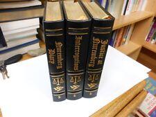 Nuremberg Nazi Trials 3 Vol. Set Leather Easton Press Hitler Wehrmacht Holocaust