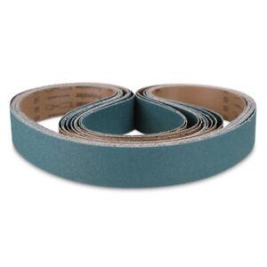 "1-1/2"" x 30"" Inch Zirconia Pipe and Tube Sanding Belt Kit 60 Grit - 10 PACK"