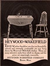 1923  AD HEYWOOD WAKEFIELD FURNITURE  WINDSOR BREAKFAST SET STENCIL