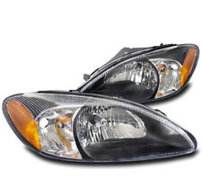 FOR 00-07 FORD TAURUS CRYSTAL REPLACEMENT STYLE HEADLIGHT LAMP ASSEMBLIES BLACK