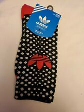Adidas socks large crew black with white dots