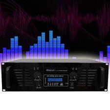 """USB Bluetooth DJ fiesta discoteca amplificador 1600 W 8 Ohm audio Sound música 2he-19"""""""