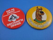 CANADA'S WONDERLAND 1980 SCOOBY DOO BUTTON VINTAGE COLLECTOR SOUVENIR LOT