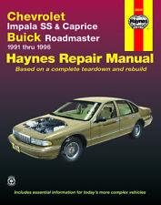 Reparaturhandbuch / -anleitung Chevrolet Caprice / Impala SS 91 - 94, 95 & 96