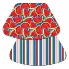 4 Reversible CounterArt Watermelon Stripes Red Blue Plastic Mat Placemats WEDGE