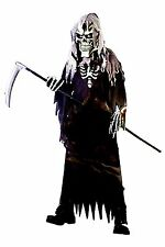 Boy's Grim Reaper Halloween Costume Size X-Large NEW Robe Hood Gloves Chest Mask