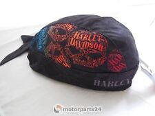Harley Davidson Skull Bandana Casquette Bonnet Foulard Bandeau Capuche Noir hw14630