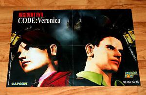 1999 Resident Evil – Code Veronica / Vagrant Story Rare Poster PS1 GameCube SEGA