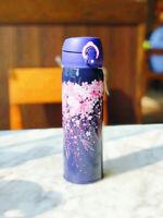Starbucks night sakura Purple Stainless steel vacuum cup cherry Tumbler 550ML