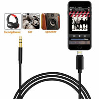 Lightning to 3.5mm Male Jack Car AUX Audio Music Adapter Cable for iPhone 7 8 X