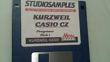 Kurzweil ~ CASIO CZ Programs Disk 1  of Native Kurzweil V.A.S.T Programs!!!