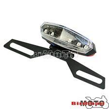 Adjustable Folding LED Tail Light License Plate Bracket Dual Sport Bike Clear