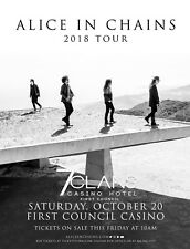 ALICE IN CHAINS 2018 OKLAHOMA CITY CONCERT TOUR POSTER - Grunge Rock Legends