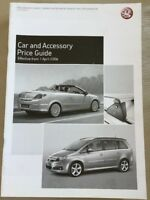 Vauxhall Car and Accessory Price Guide - April 2006