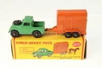 Dinky #073 - Land Rover and Horse Box - Green/Orange (BKPW) - A/B