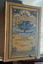 Karl Stieler/Hugo Engl: Drei Buschen Gedichte oberbairisch 1886 gebunden Bonz