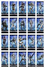 Topps Star Wars Digital Card Trader 40 Card Blue Rank & File Insert Set