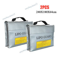 2x Lipo Battery Fireproof Explosion proof Bag Storage Guard Safe Pouch Charging