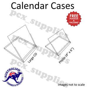 Super Clear Plastic Calendar Display jewel Cases 2 sizes Free Post